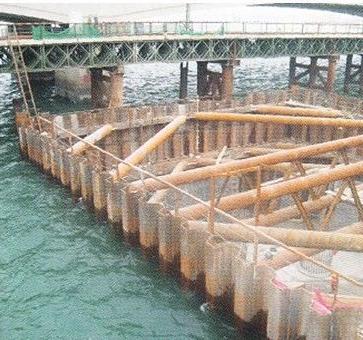 mesures des taux de corrosion en palplanches en parois Acier dans un environnement marin