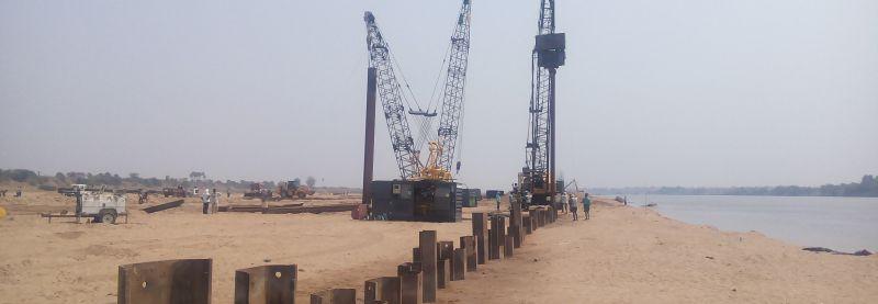Nouveau composé palplanche en acier pour les travaux de terrassement de retenue
