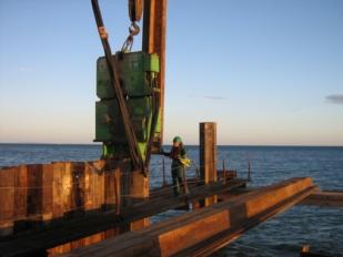 Palplanches dans la construction marine