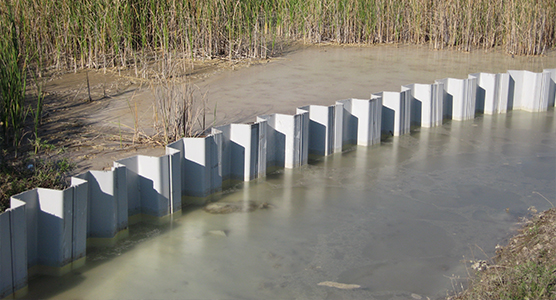 Conception des murs Palplanche coupés et confinés