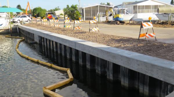 L'effet de la longueur Palplanche sur la capacité de la fondation Palplanche