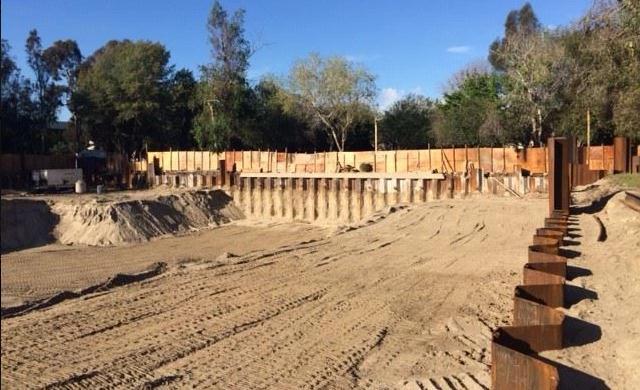 Mur de sous-sol Palplanche permanent